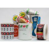 Bobinas de rótulos de embalagens de alimentos na Vila Socorro