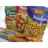 Embalagem flexível para alimentos impresso em São Paulo