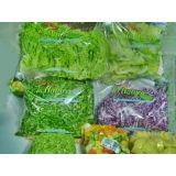 Embalagem plástica para verdura no Jardim Tropical