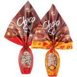 Embalagens de ovos de chocolate na Vila Santista