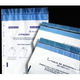 Envelopes plásticos personalizados no Glicério