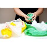 Modelo de embalagens plásticas recicladas Vila Nova Galvão