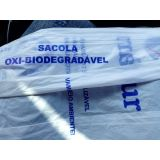 Sacolas biodegradáveis preço no Jardim Brasilina